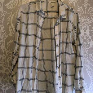 H&M flannel button up shirt